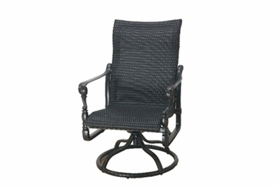 The Grandville Collection Commercial Wicker Standard Back Swivel Dining Chair
