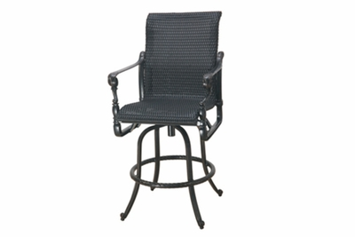 The Grandville Collection Commercial Wicker Swivel Bar Height Chair