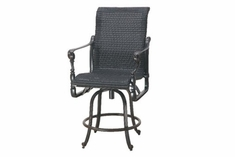 The Grandville Collection Commercial Wicker Swivel Counter Height Chair