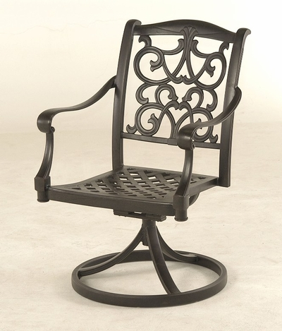 The Grayson Collection Commercial Cast Aluminum Swivel Dining Chair