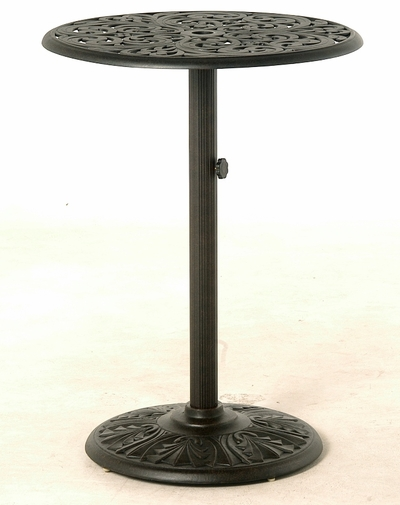 "The Harbor Collection Commercial Cast Aluminum 30"" Pedestal Bar Height Table"