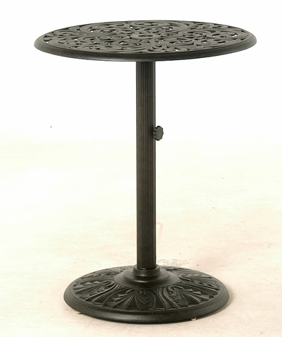 "The Harbor Collection Commercial Cast Aluminum 30"" Round Pedestal Counter Height Table"