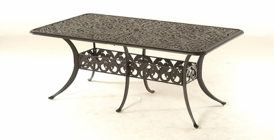 "The Harbor Collection Commercial Cast Aluminum 42"" x 76"" Rectangle Expansion Dining Table"