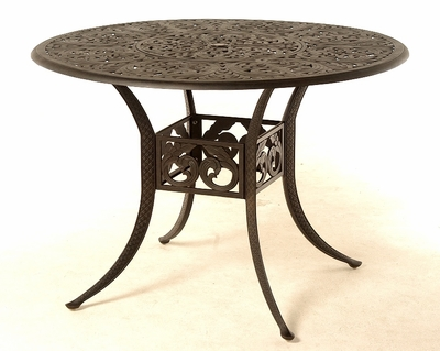 "The Harbor Collection Commercial Cast Aluminum 54"" Round Counter Height Table With Inlaid Lazy Susan"
