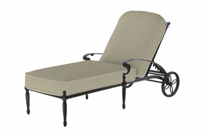 The Holbrook Collection Commercial Cast Aluminum Chaise Lounge