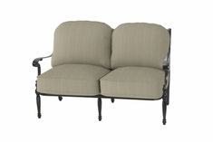 The Holbrook Collection Commercial Cast Aluminum Loveseat