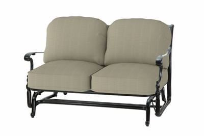 The Holbrook Collection Commercial Cast Aluminum Loveseat Glider