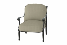 The Holbrook Collection Commercial Cast Aluminum Stationary Club Chair