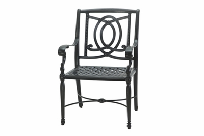 The Holbrook Collection Commercial Cast Aluminum Stationary Dining Chair