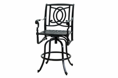 The Holbrook Collection Commercial Cast Aluminum Swivel Bar Height Chair