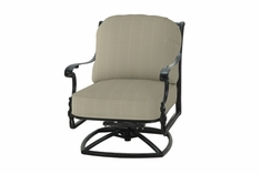 The Holbrook Collection Commercial Cast Aluminum Swivel Club Chair