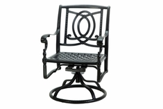 The Holbrook Collection Commercial Cast Aluminum Swivel Dining Chair