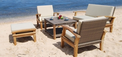 The Irla Collection Commercial Teak Deep Seating Set