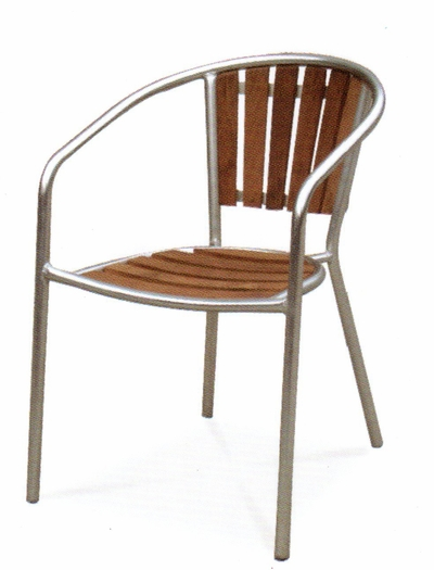 The Isle Collection Commercial Teak Dining Chair