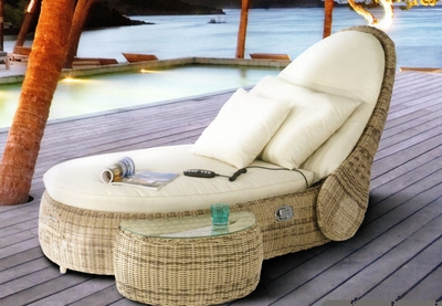 The Joliat Collection All Weather Wicker Patio Furniture Chaise Lounge