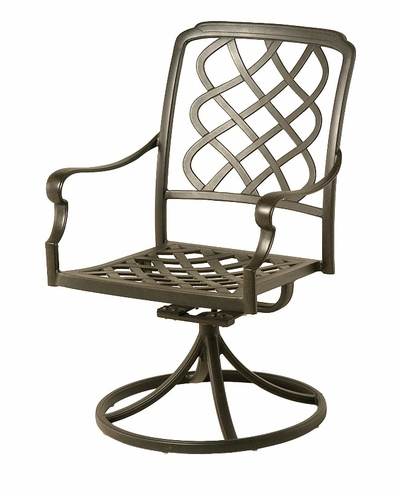 The Kayla Collection Commercial Cast Aluminum Swivel Dining Chair
