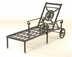 The Key West Collection Commercial Cast Aluminum Chaise Lounge