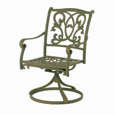 The Lavali Collection Commercial Cast Aluminum Swivel Dining Chair