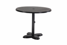 "The Lakelyn Collection Commercial Cast Aluminum 30"" Round Pedestal Dining Table"