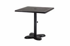 "The Lakelyn Collection Commercial Cast Aluminum 30"" Square Pedestal Counter Height Table"