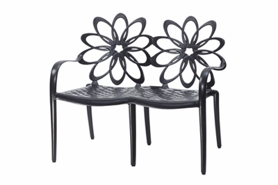 The Lakelyn Collection Commercial Cast Aluminum Bench