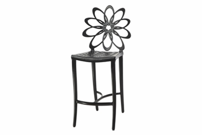 The Lakelyn Collection Commercial Cast Aluminum Stationary Bar Height Chair