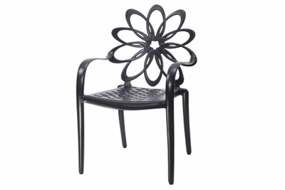 The Lakelyn Collection Commercial Cast Aluminum Stationary Dining Chair
