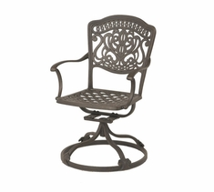 The Lina Collection Commercial Cast Aluminum Swivel Dining Chair