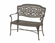 The Lina Collection Commercial Cast Aluminum Bench