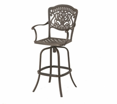 The Lina Collection Commercial Cast Aluminum Swivel Bar Height Chair