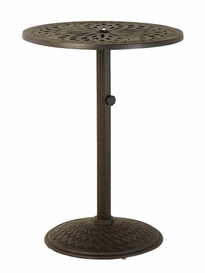 "The Macyn Collection Commercial Cast Aluminum 30"" Round Pedestal Bar HeightTable"