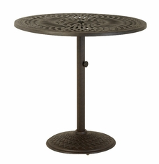 "The Macyn Collection Commercial Cast Aluminum 42"" Round Pedestal Bar Height Table"