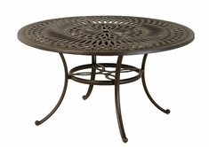 "The Macyn Collection Commercial Cast Aluminum 48"" Round Dining Table"