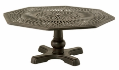 The Macyn Collection Commercial Cast Aluminum Hexagonal Dining Table