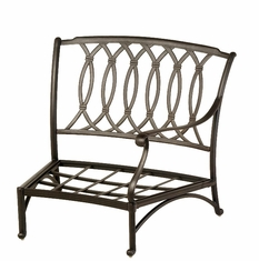 The Macyn Collection Commercial Cast Aluminum Left Crescent Club Chair