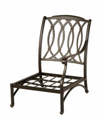 The Macyn Collection Commercial Cast Aluminum Left Stationary Club Chair