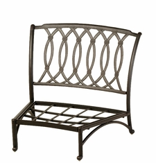 The Macyn Collection Commercial Cast Aluminum Middle Crescent Club Chair