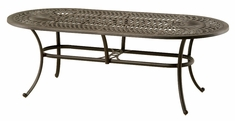 The Macyn Collection Commercial Cast Aluminum Oval Dining Table