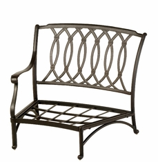 The Macyn Collection Commercial Cast Aluminum Right Crescent Club Chair