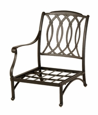 The Macyn Collection Commercial Cast Aluminum Right Stationary Club Chair