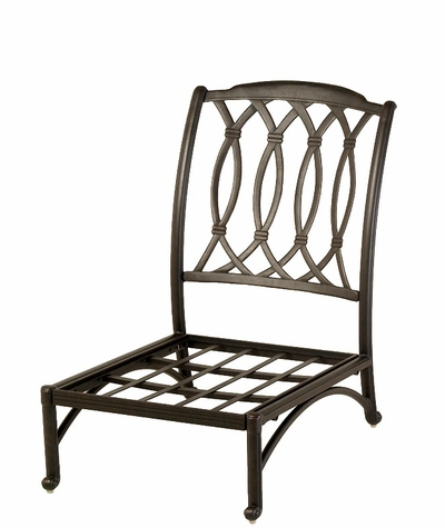 The Macyn Collection Commercial Cast Aluminum Middle Stationary Club Chair