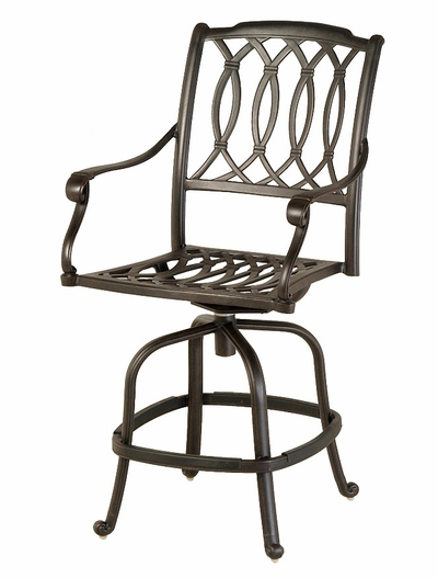 The Macyn Collection Commercial Cast Aluminum Swivel Counter Height Chair