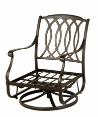 The Macyn Collection Commercial Cast Aluminum Swivel Glider Chair