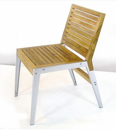 The Maison Collection Armless Commercial Teak Dining Chair