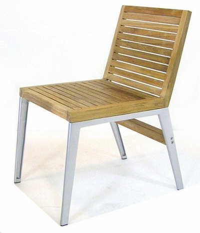 The Marilyn Collection Armless Commercial Teak Dining Chair