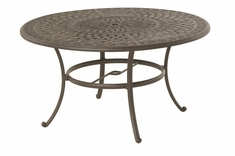 "The Mila Collection Commercial Cast Aluminum 54"" Round Dining Table"