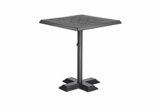 "The Mimosa Collection Commercial Cast Aluminum 30"" Square Pedestal Bar Height Table"