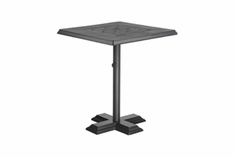 "The Mimosa Collection Commercial Cast Aluminum 30"" Square Pedestal Dining Table"