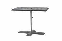 "The Mimosa Collection Commercial Cast Aluminum 30"" x 48"" Rectangle Pedestal Dining Table"