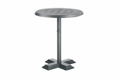 "The Mimosa Collection Commercial Cast Aluminum 36"" Round Pedestal Dining Table"